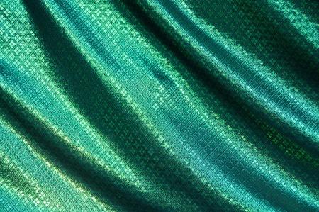 Texture of Thai silk with gold thread