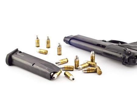45 ammo: Pistol   bullets isolate