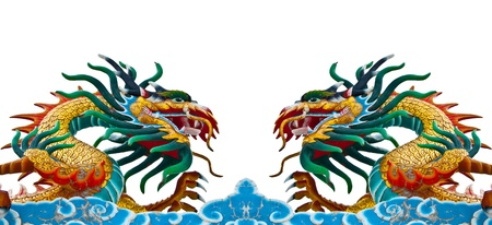 Twin dragons Stock Photo - 13376226