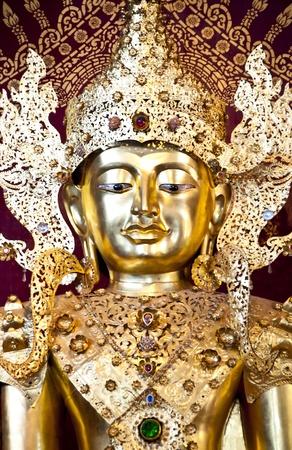 Golden Buddha in Burmese style