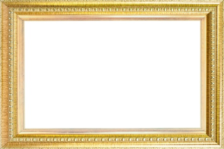 Luxury gold frame isolated  photo