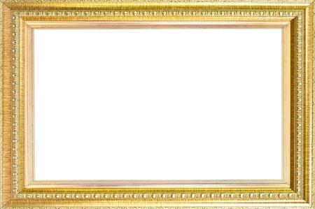 gilt: Luxury gold frame isolated  Stock Photo