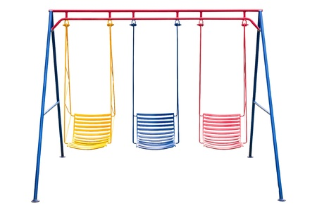 School playground swing isolated  photo