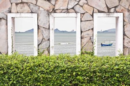 Sea Behind the wall  photo