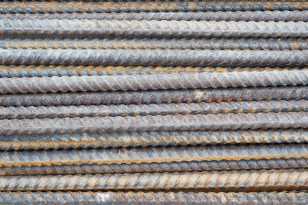 Rusty steel bars  photo