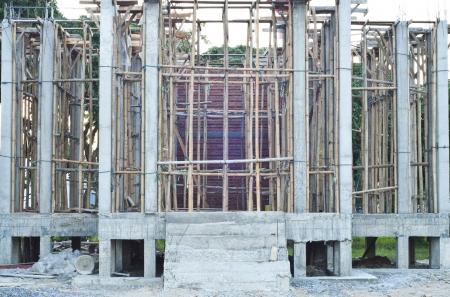 Temple under construction Stock Photo - 17097403