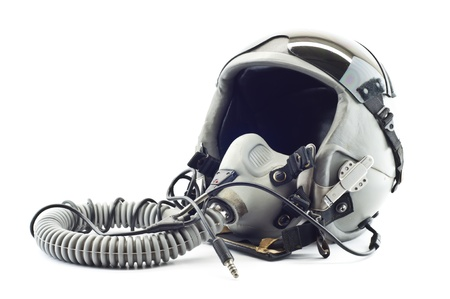 Flight helmet with oxygen mask  Stock Photo