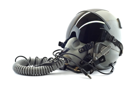 flight helmet: Flight helmet with oxygen mask  Stock Photo