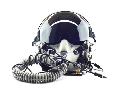 avion de chasse: Casque de vol avec un masque � oxyg�ne