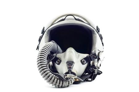 Flight helmet with oxygen mask  photo
