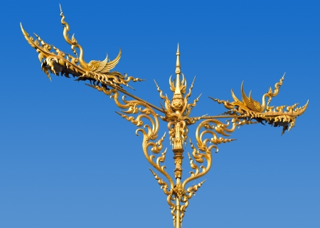 Thai art lamppost  photo
