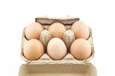 Eggs in paper tray Stock Photo - 17479245
