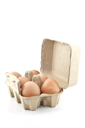 Eggs in paper tray  photo