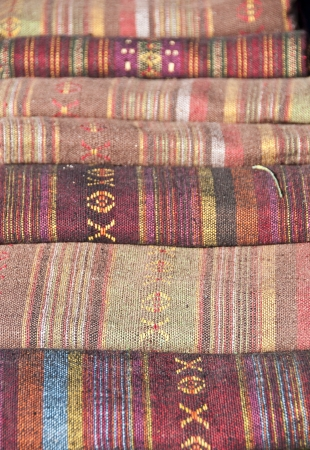Thai traditional fabric  Stock Photo - 18496889