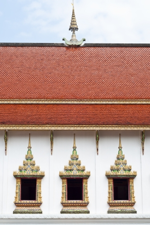 Thai traditional art temple window