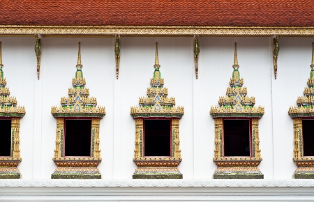 Thai traditional art temple window  photo