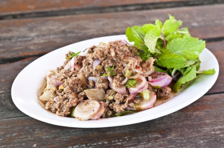 Thai cuisine spicy mince beef salad  Stock Photo - 18676984