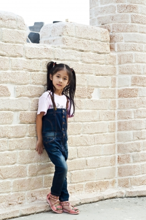 Little asian girl posing  Stock Photo - 18654711