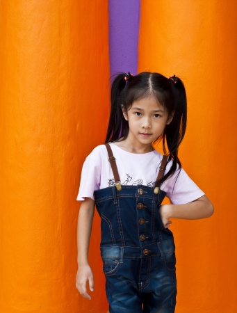 Little asian girl posing  Stock Photo - 18654713