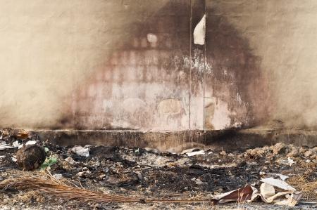 Burnt wall  Stock Photo - 18676991