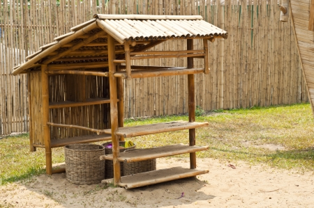 Bamboo hut  Stock Photo