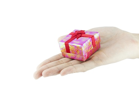 Gift in woman hand  Stock Photo