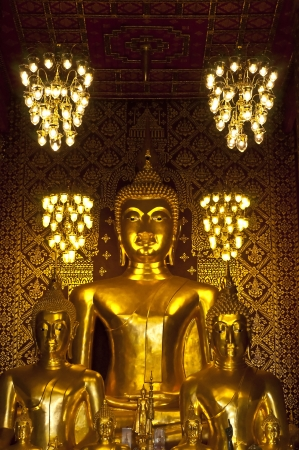 Golden Buddha in church  photo