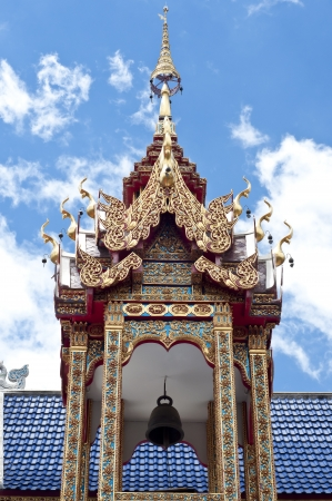 Bell tower in Thai temple  Stock Photo