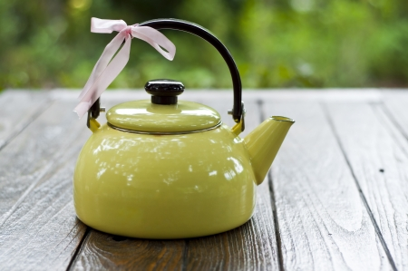 Yellow teapot  photo