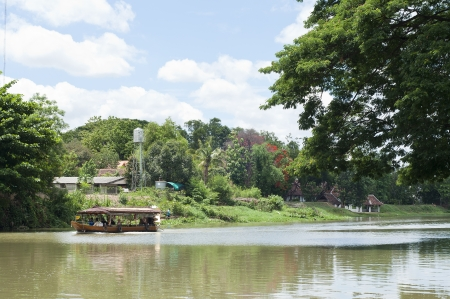 Boat trip in Mae Ping river, Thailand