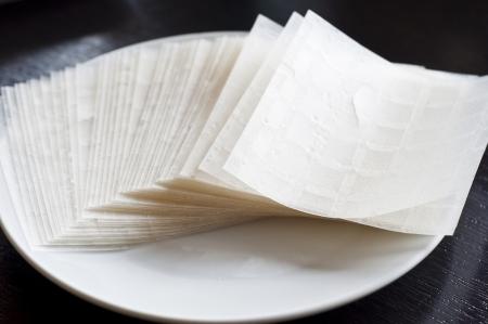 Vietnamese rice paper  Stock Photo