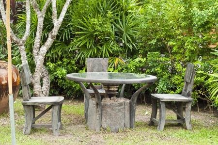 Relax corner in the garden  photo