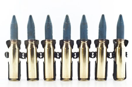 Cartridge 20 mm caliber aircraft gunnery bullet isolated