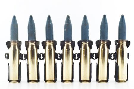 gunnery: Cartridge 20 mm caliber aircraft gunnery bullet isolated