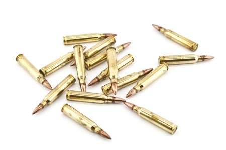 m16 ammo: Cartridge 5 56 mm caliber, Machine gun bullet isolated