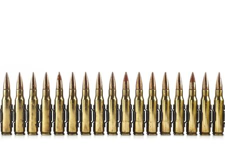 Cartouche 7 62 mm de calibre avec un lien, Machine gun balle isolé