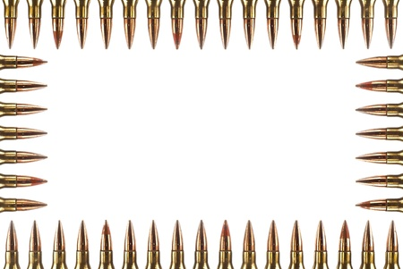 full metal jacket: Cartridge 7 62 mm caliber, Machine gun bullet isolated  Stock Photo