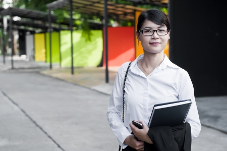 Beautiful Asian business woman in shopping mall  Stock Photo