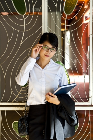 Beautiful Asian business woman portrait