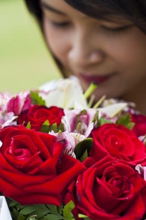 Beautiful woman in love  photo