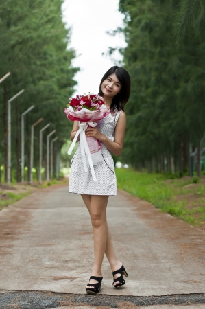 Beautiful woman in love  photo