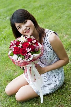 Belle femme dans l'amour