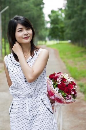 Beautiful woman in love