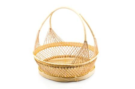 Rattan basket isolated  Stock Photo - 21450757