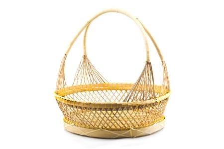 Rattan basket isolated Stock Photo - 21450758