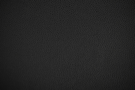 Black leather texture as background  Banco de Imagens