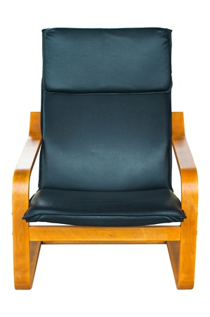 Retro leather armchair isolated  photo