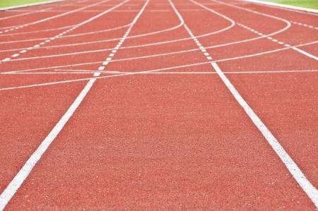 Running race track in public national stadium  photo