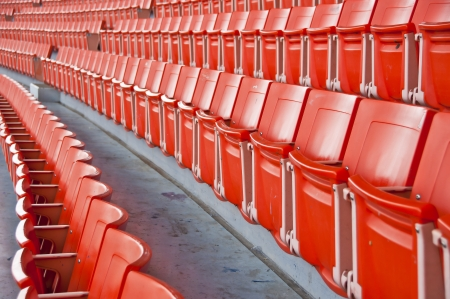 Seats on main stand of public national stadium