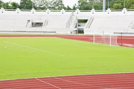 Terrain de football dans le stade national du public Banque d'images - 21915608